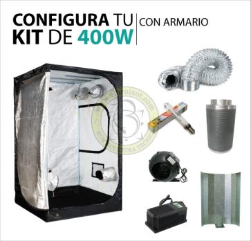 kit cultivo 400w con armario