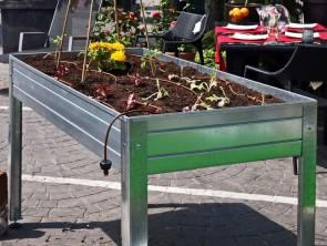 Mesa de cultivo galvanizada 150x50x45
