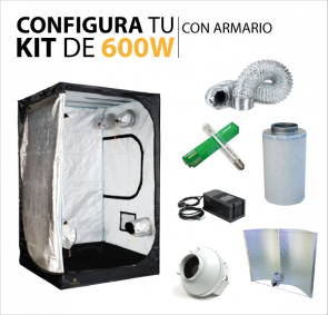 Kit de cultivo con armario 600W