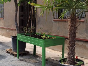 Mesa de cultivo verde 150x50x45