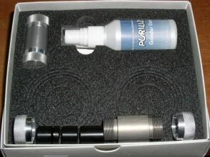 Prensadora de tricomas, cajita y liquido limpiador