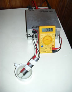 montado de un tester con un generador de onda cuadrada