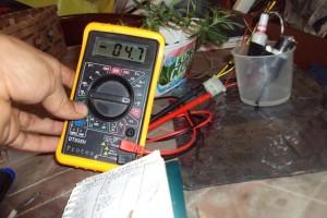 conductimetro montado con un voltimetro