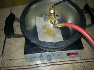 Placa calentadora de BHO con vacio